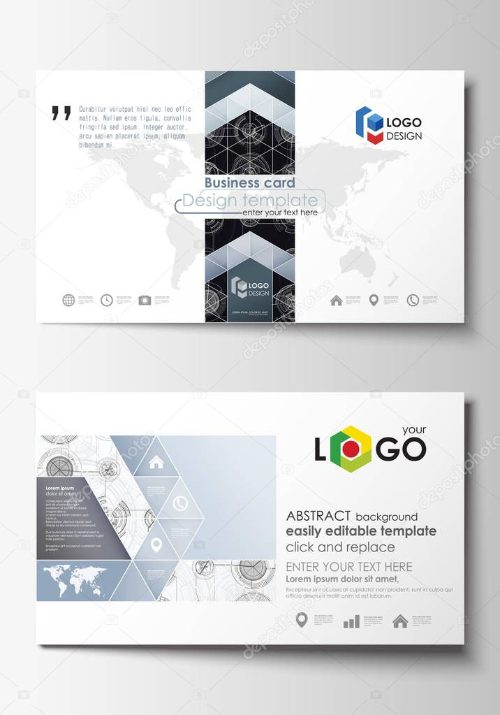 business card templates easy editable layouts flat style template