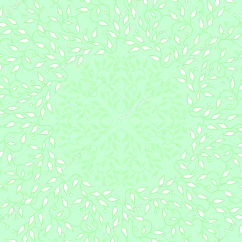 Diseño de marco de color abstracto verde. Círculo hace fondo con ...