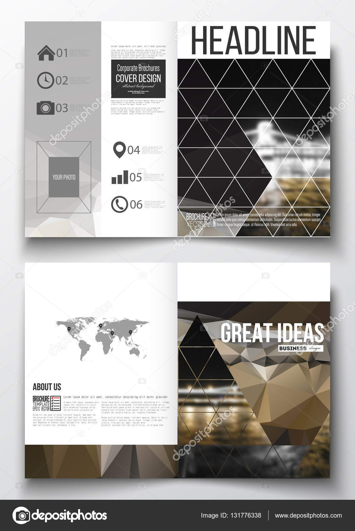 Set of business templates for brochure, magazine, flyer, booklet or ...