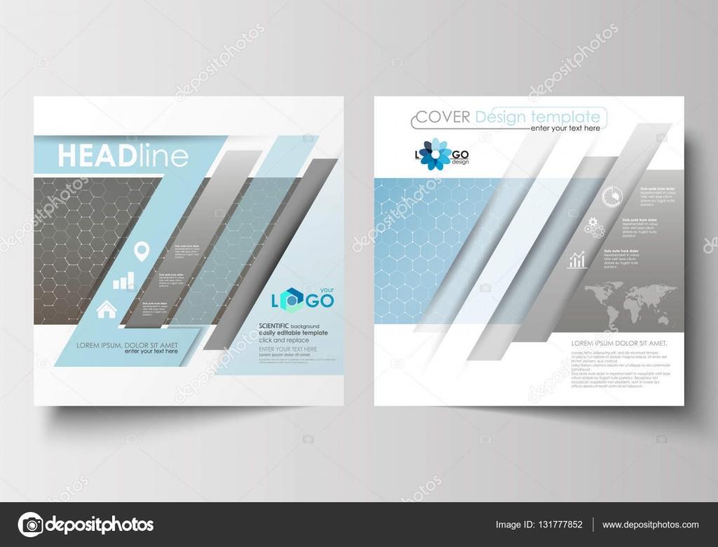 Plantillas para folleto cuadrado, revista, folleto, folleto ...