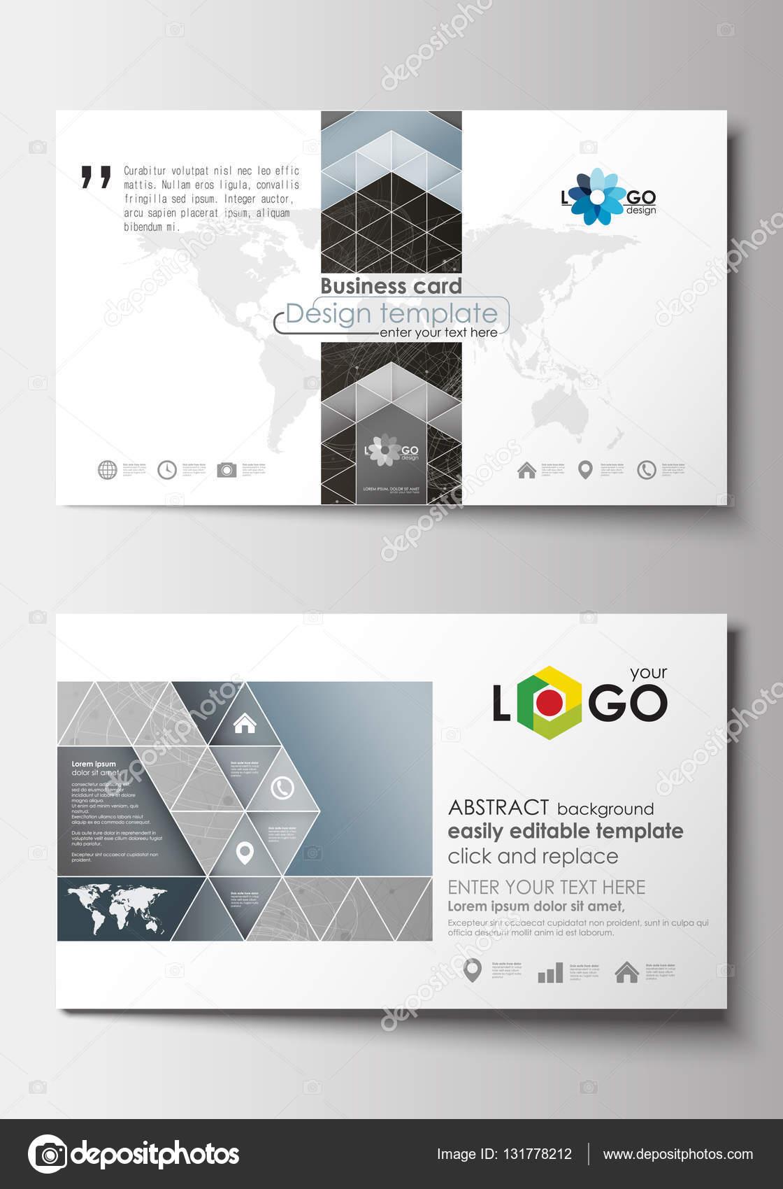 Plantillas de tarjeta de visita. Plantilla de diseño de cubierta ...