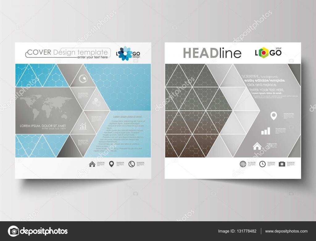 Business-Vorlagen für quadratische Broschüre, Magazin, Flyer ...
