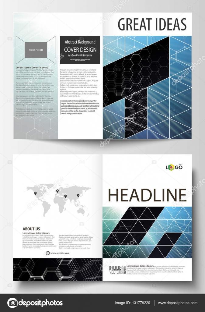 Vorlagen für Bi-Fold Broschüre, Magazin, Flyer oder Bericht ...