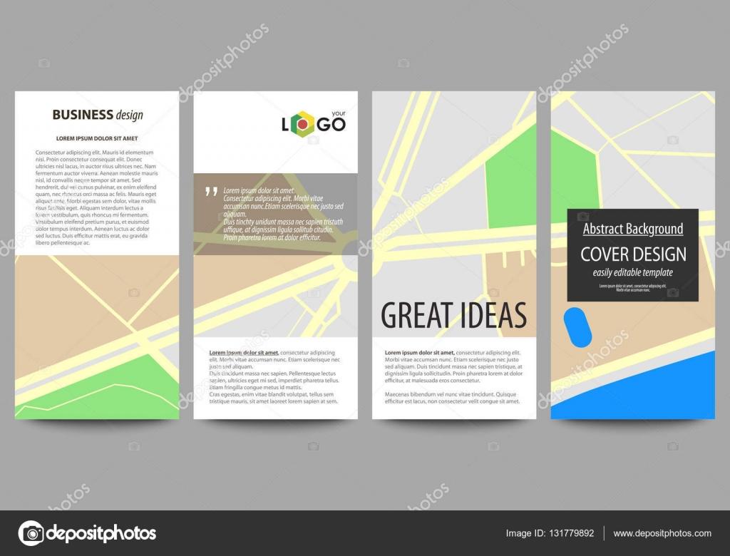 Conjunto De Panfletos Banners Modernos Modelos De Negócios