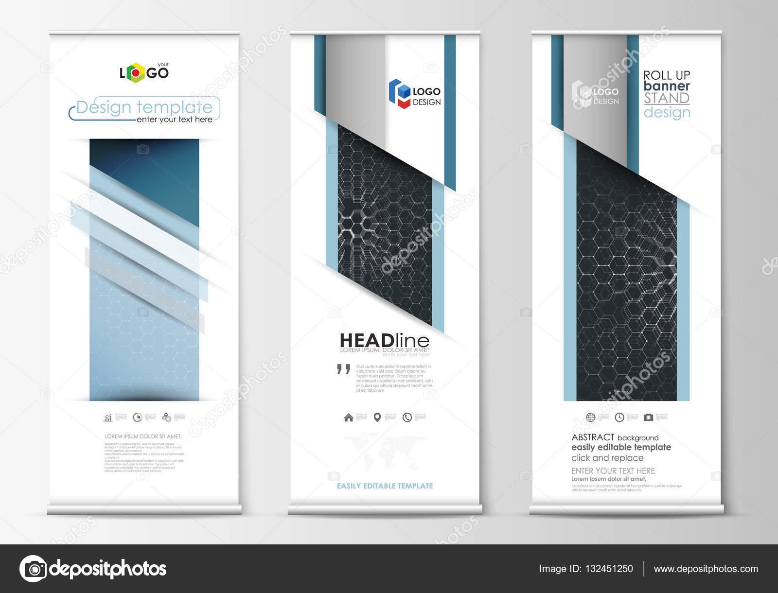 Roll-up Banner steht, abstrakten geometrischen Stil-Vorlagen ...