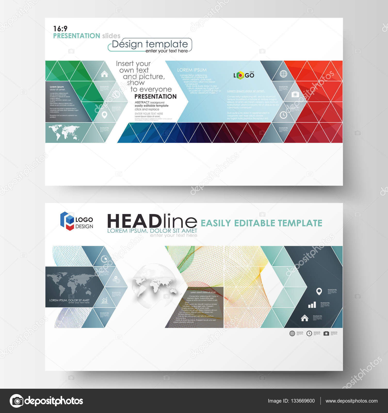 Business templates in HD format for presentation slides Easy