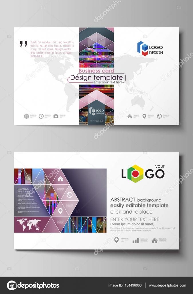 Modles De Carte Visite Facilement Modifiable Mise En Page Modle Conception Abstraite Vector Glitched Fond Mosaque Pixels Colors