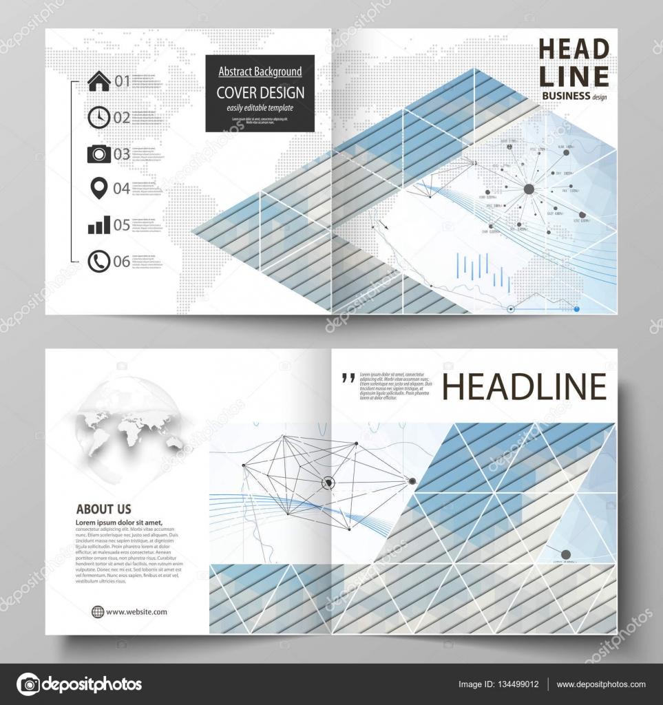 Plantillas de negocio para bi diseño cuadrado doblan brochure ...