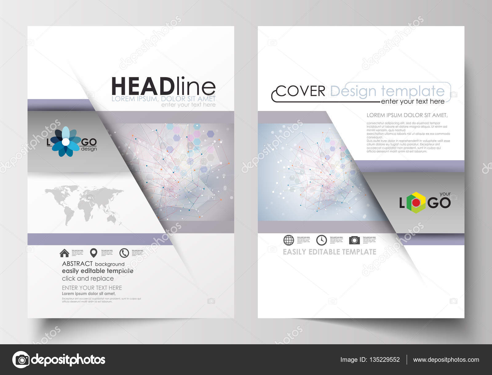 Plantillas de negocio para folleto, flyer, folleto, revista ...