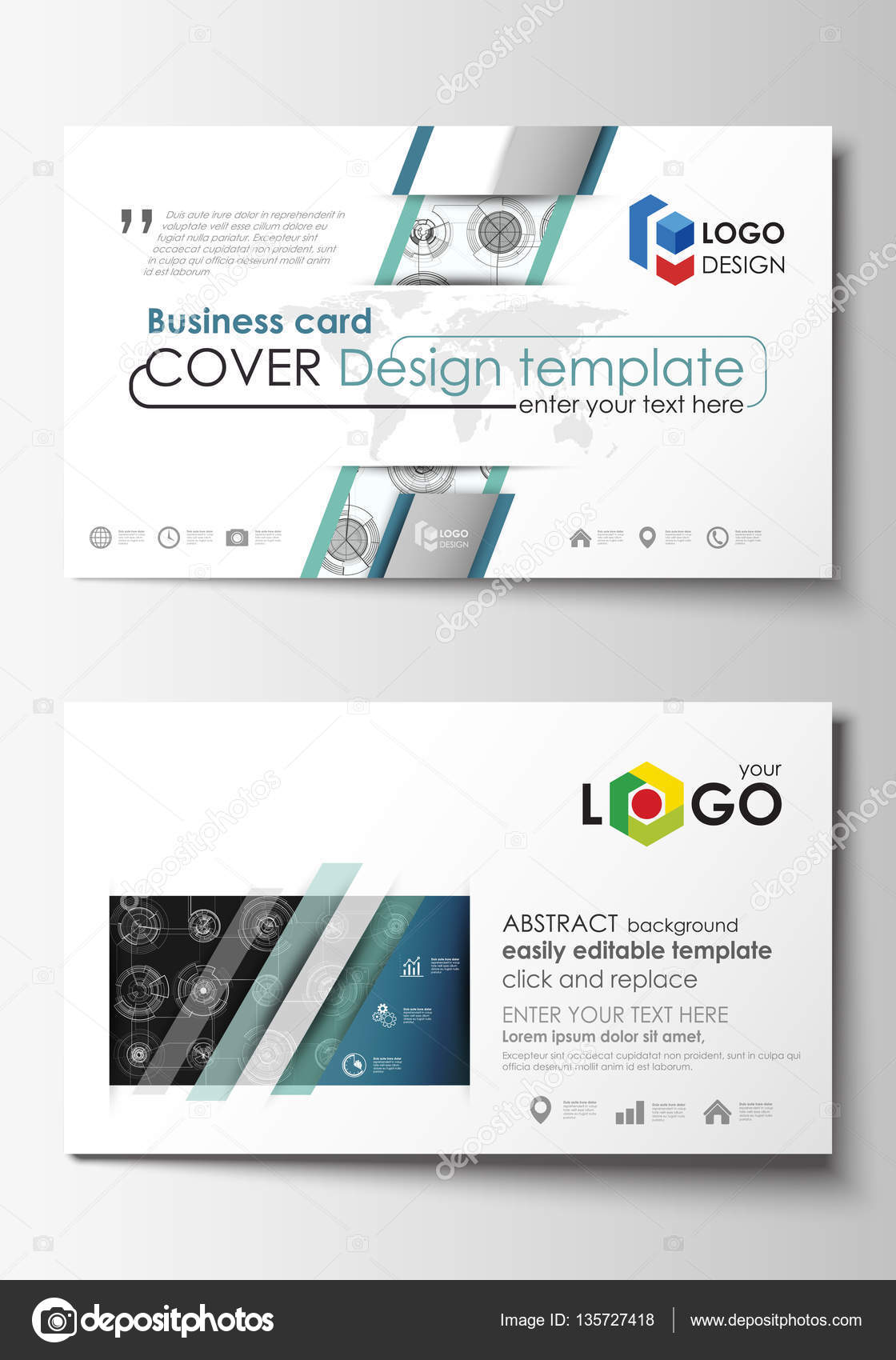 Business card templates easy editable layouts flat style template business card templates easy editable layouts flat style template vector illustration high tech design connecting system wajeb Gallery