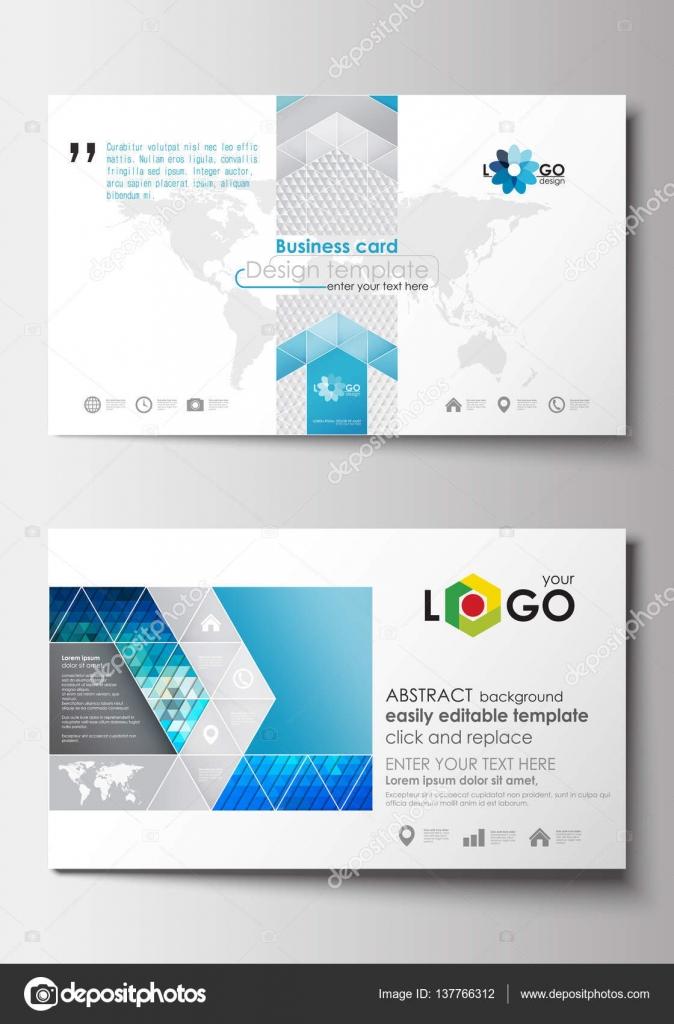 Visitenkarten-Vorlagen. Cover-Design-Vorlage, leicht bearbeitbare ...