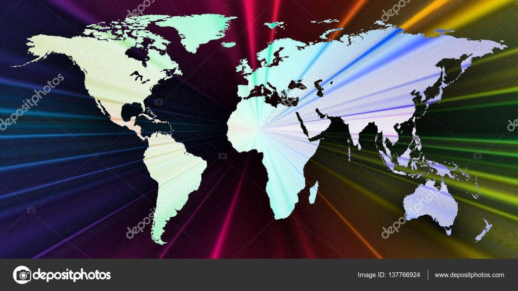 Colorful 3d background with world map abstract waves lines bright colorful 3d background with world map abstract waves lines bright color curves swirl motion design colourful vector decoration vector by raevsky gumiabroncs Images