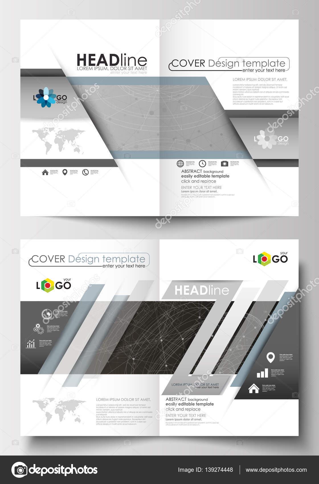 Business-Vorlagen für Broschüre, Magazin, Flyer. Cover-Design ...