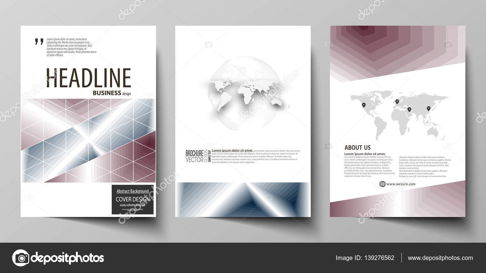 Business templates for brochure magazine flyer annual report – Simple Annual Report Template