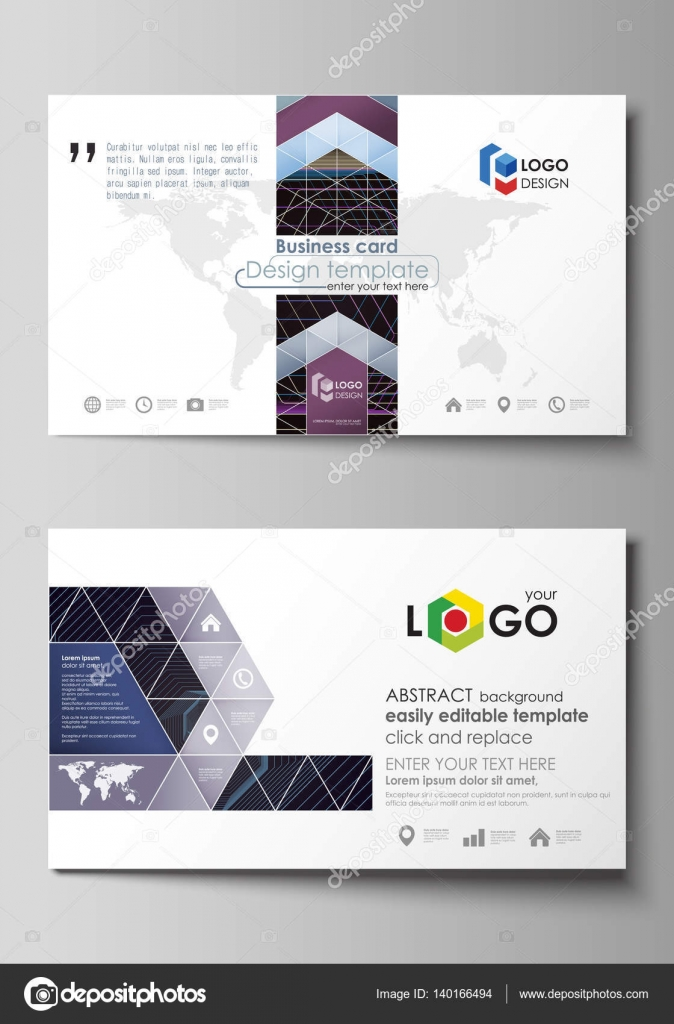 Business Card Templates Easy Editable Layout Vector Template - Easy business card template