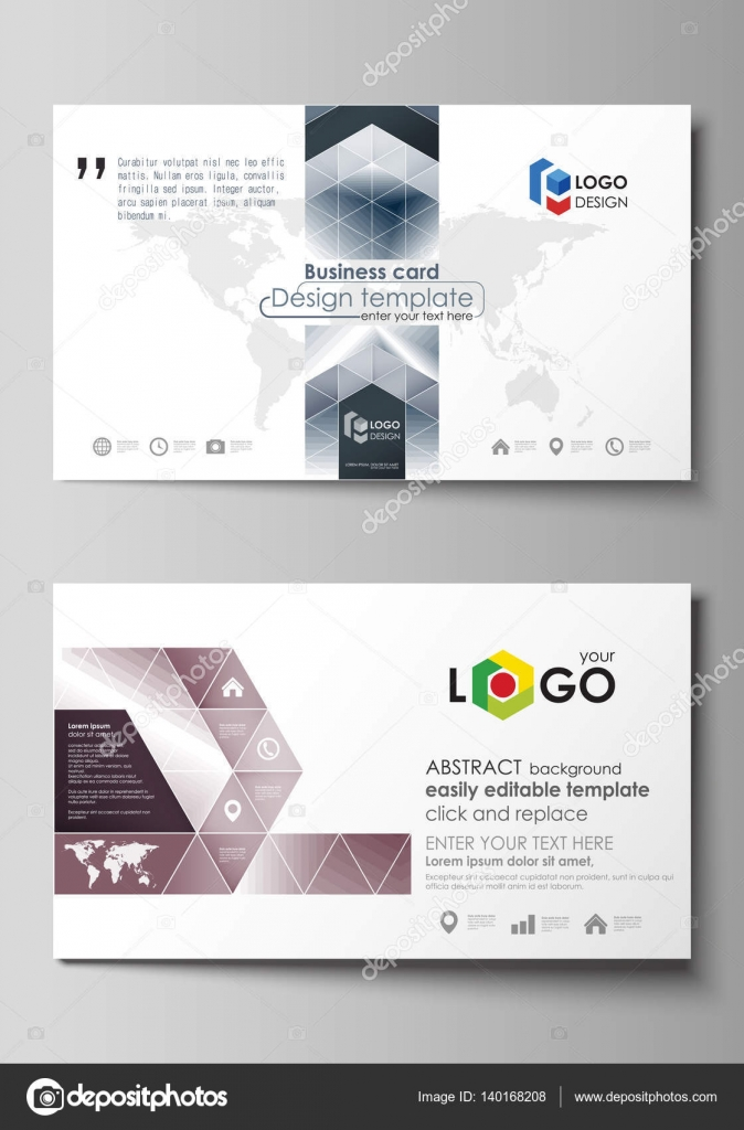 Business card templates easy editable layout vector design business card templates easy editable layout abstract vector design template simple monochrome geometric pattern abstract polygonal style stylish flashek Gallery