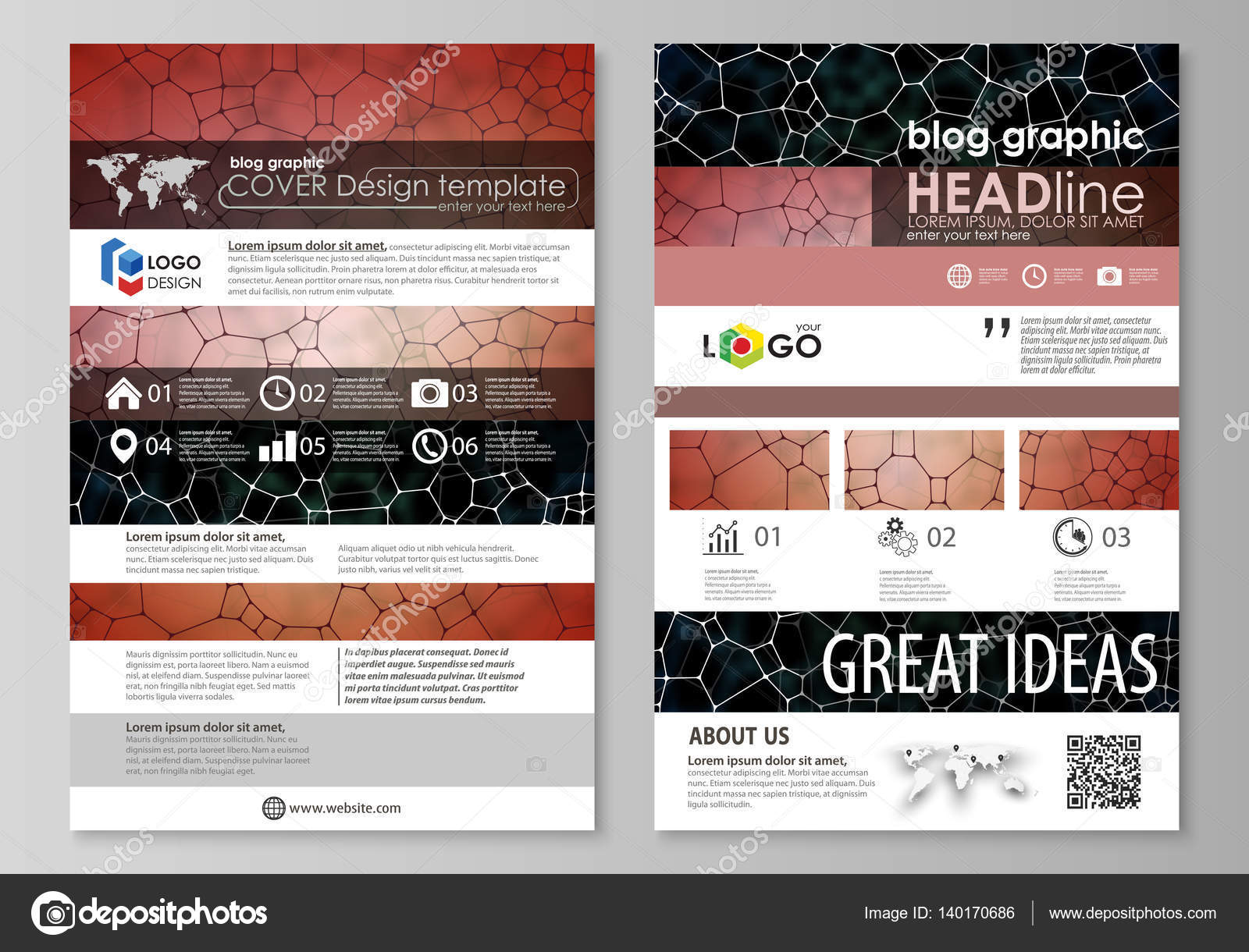 Blog-grafische Business-Templates. Seite Website-Design-Templates ...