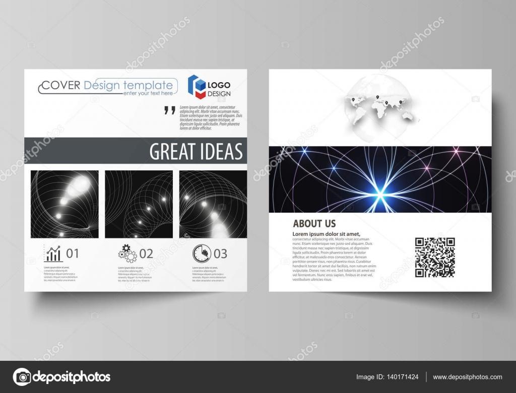 Business templates for square design brochure, magazine, flyer ...