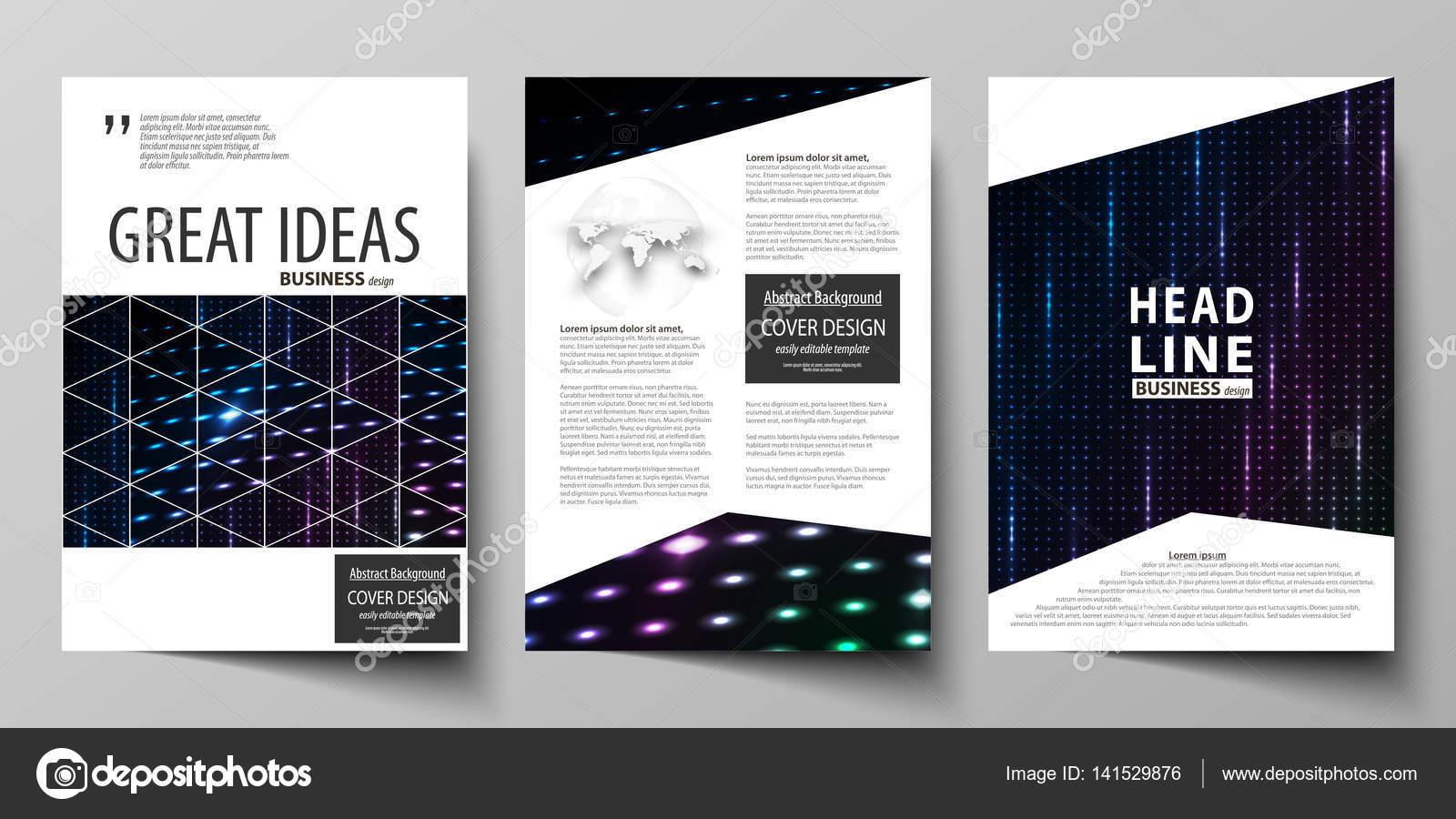 Business-Vorlagen für Broschüre, Flyer, Broschüre, Magazin. Decken ...