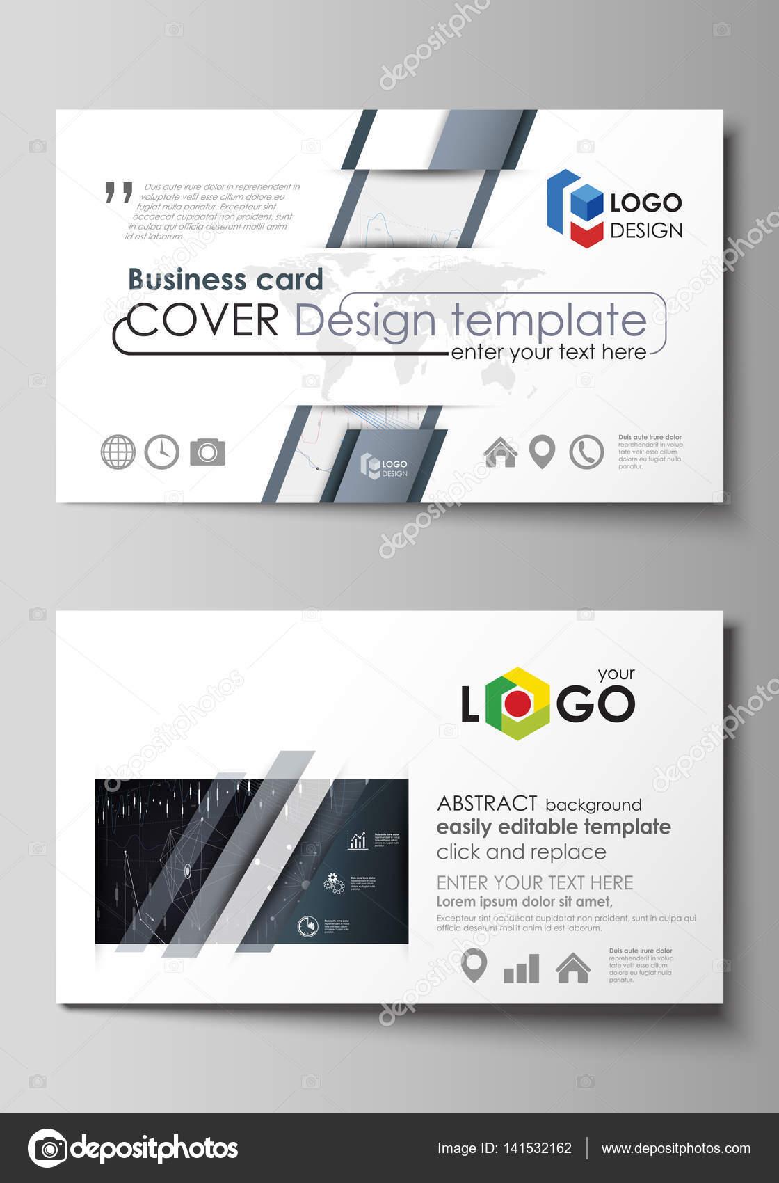 Visitenkarten-Vorlagen. Einfach bearbeitbar Vektor Layout. Abstrakt ...