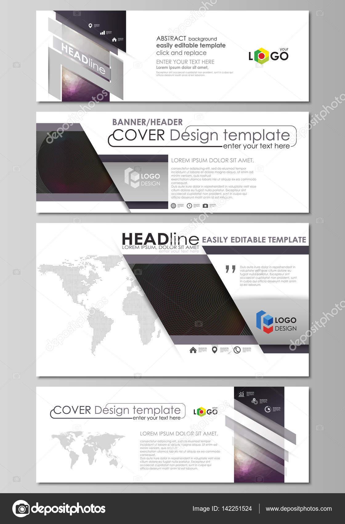 Soziale Medien und e-Mail-Header gesetzt, moderne Banner. Business ...