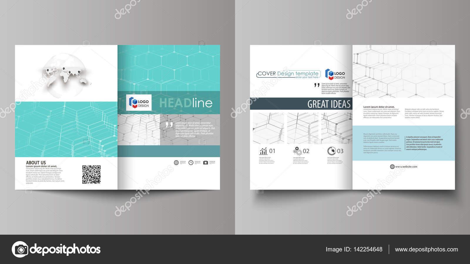 Business-Vorlagen für Bi Falten Broschüre, Flyer, Broschüre, Bericht ...
