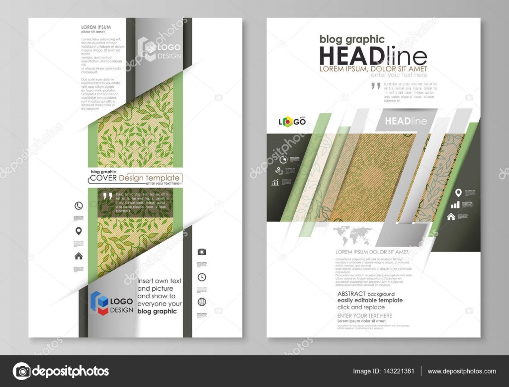 Blog-grafische Business-Templates. Seite Website-Templates, Vektor ...