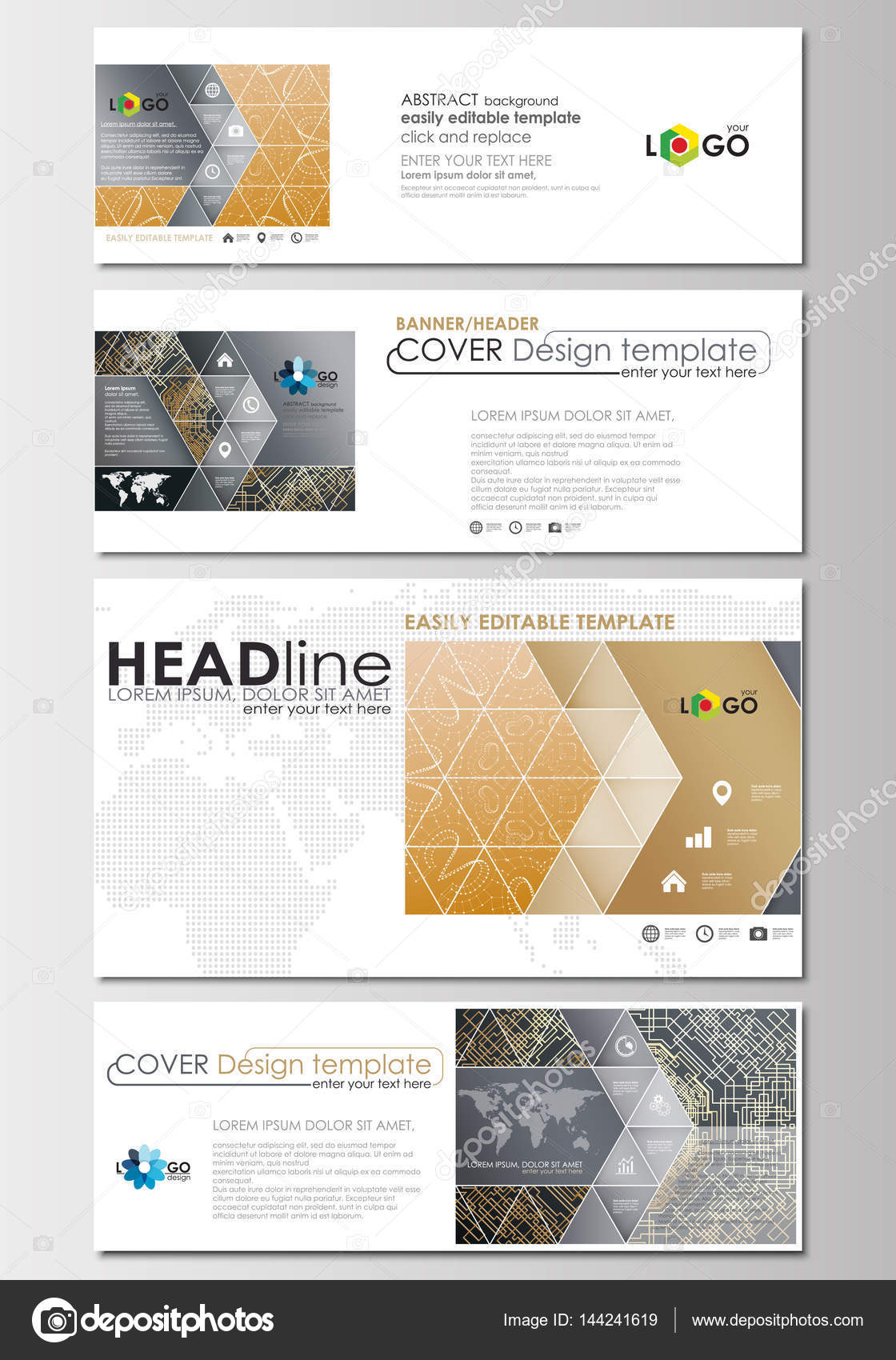 Social media and email headers set modern banners cover design social media and email headers set modern banners cover design template flat layout altavistaventures Images