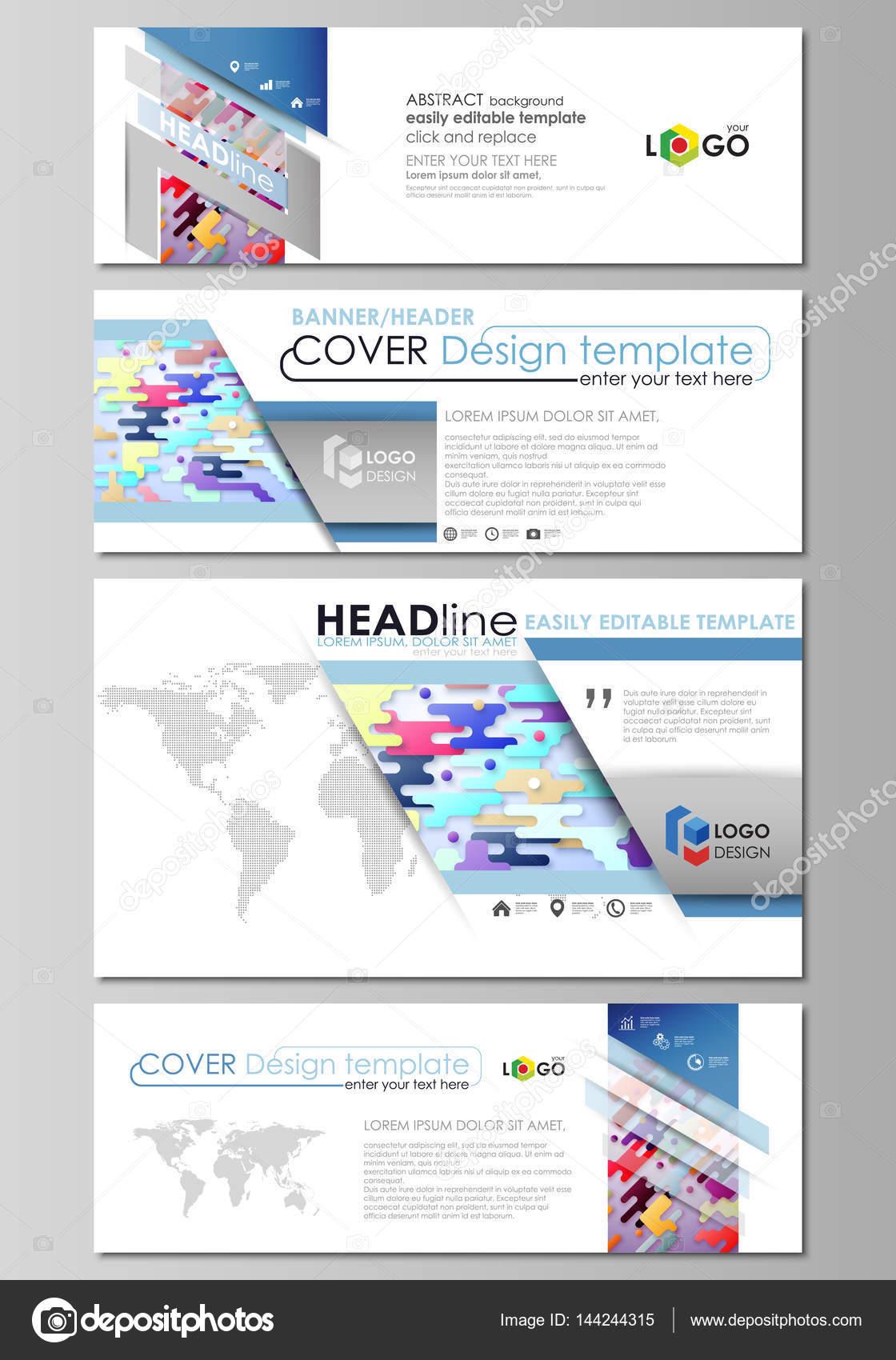 Soziale Medien und e-Mail-Header gesetzt, moderne Banner. Abstrakt ...