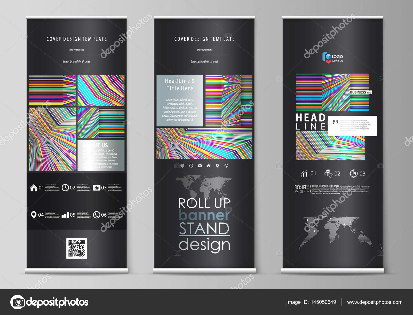 Roll-up Banner steht, abstrakten Stil-Vorlagen, corporate ...
