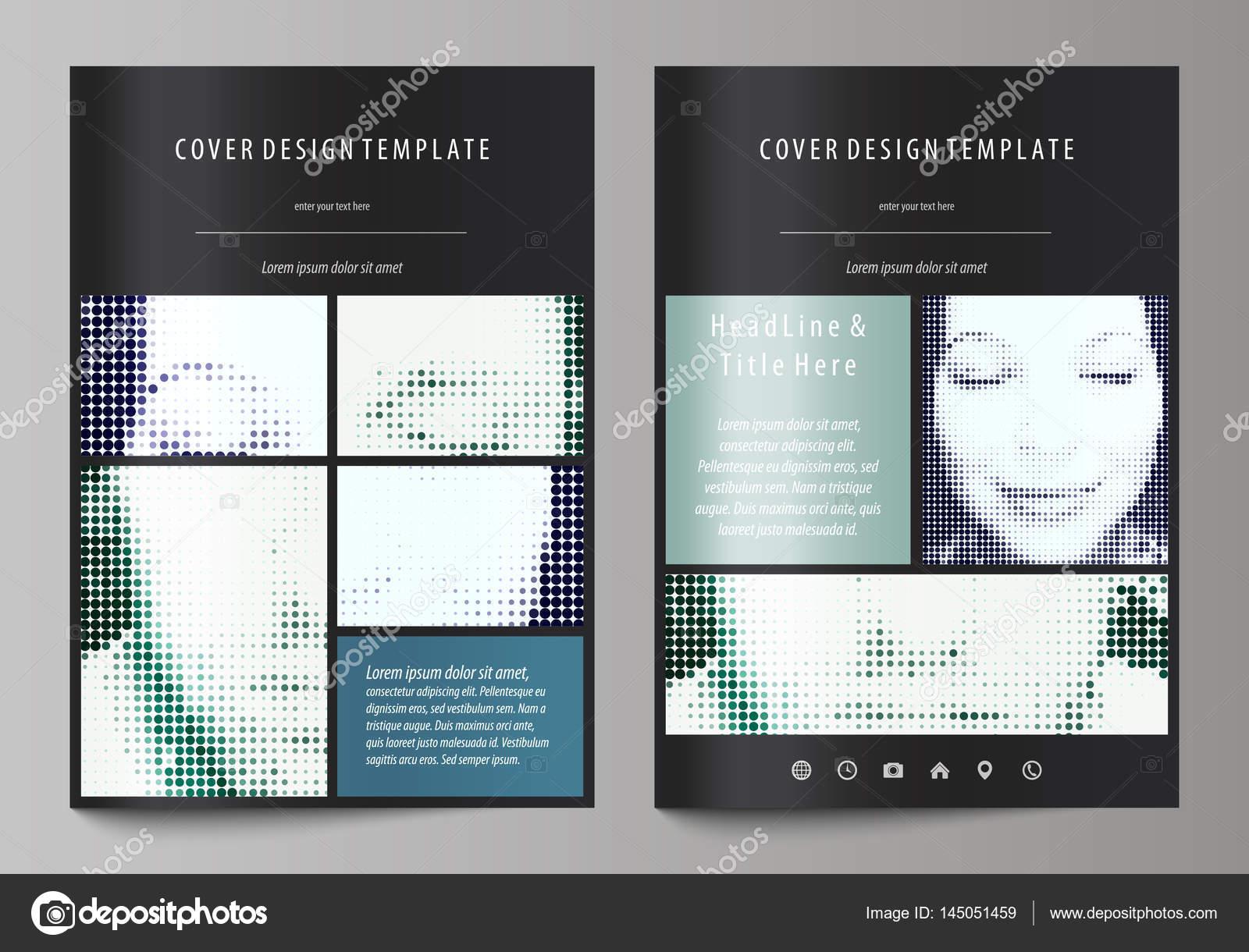 Plantillas de negocio para folleto, flyer, folleto, revista. Cubrir ...