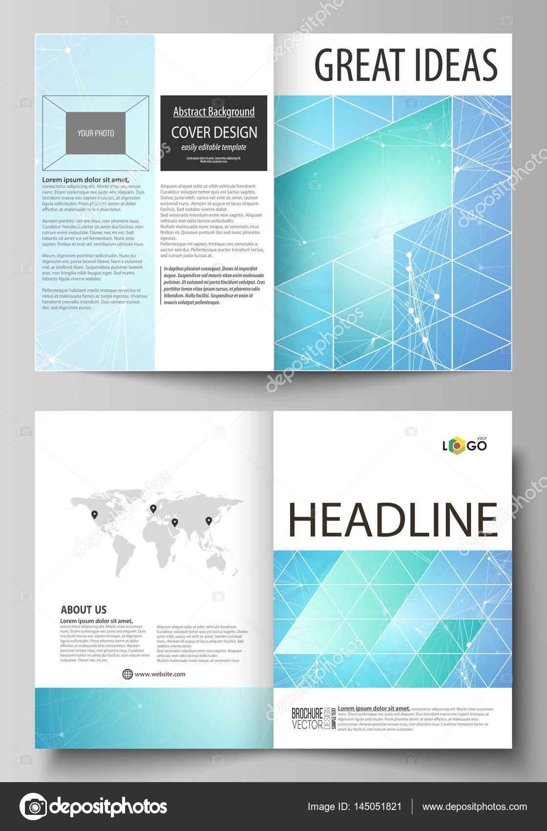 Business templates for bi fold brochure, flyer. Cover design ...