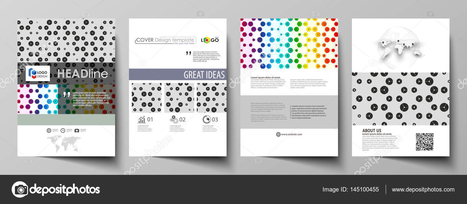 Business templates for brochure, flyer, annual report. Cover ...