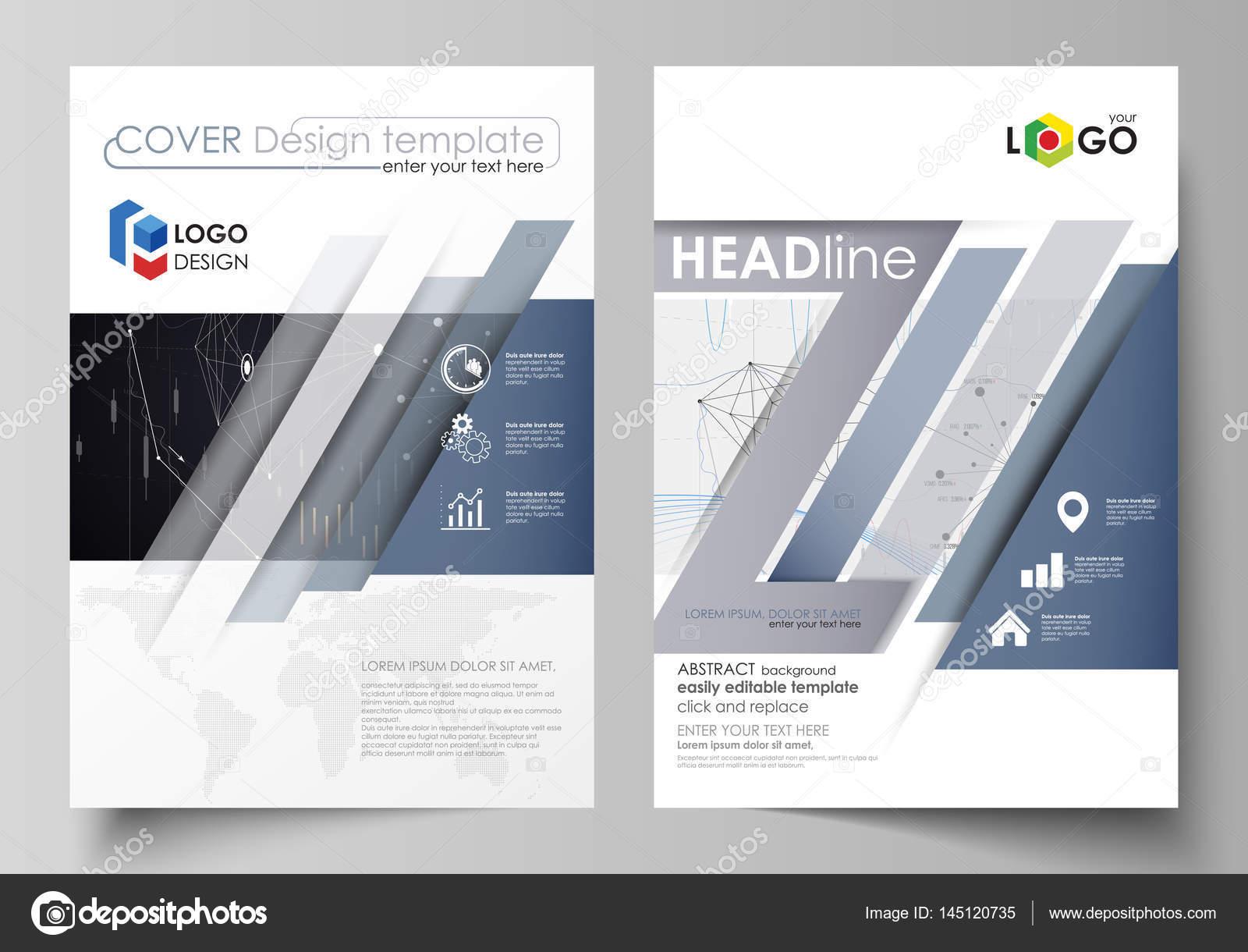 Plantillas de negocio para el folleto, flyer, informe anual ...