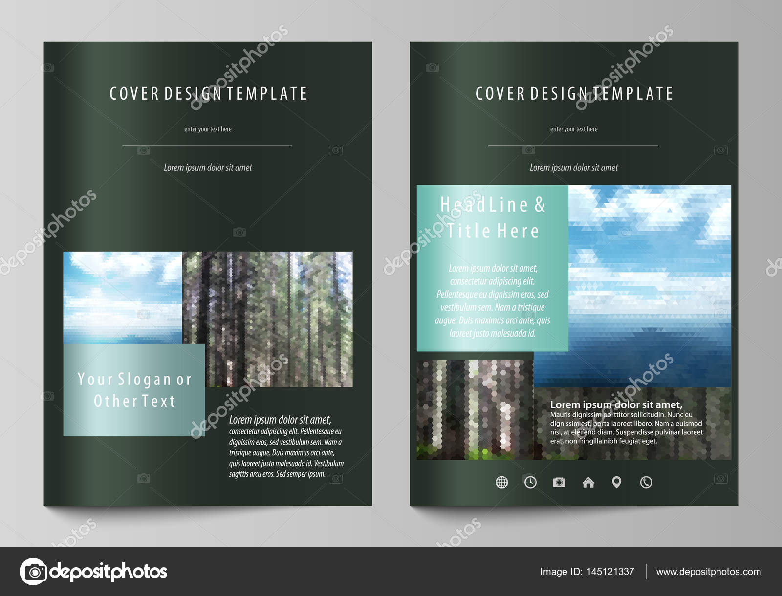 Templates for brochure, magazine, flyer, booklet or annual report ...