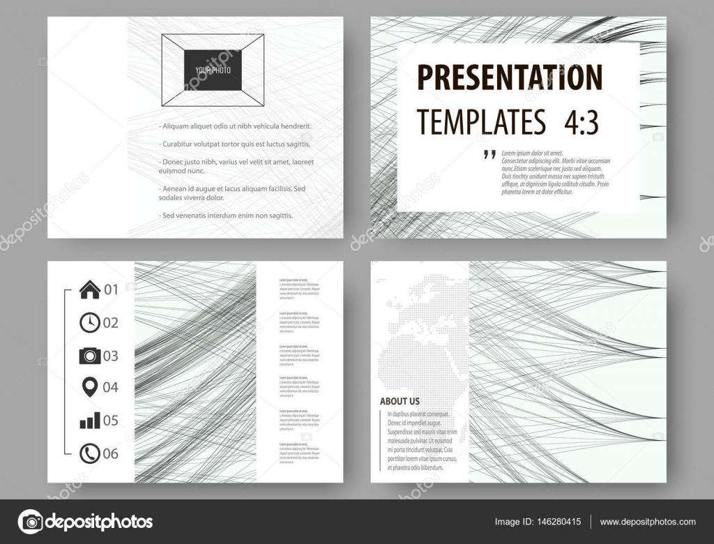 Conjunto de negocios plantillas para las diapositivas de la ...