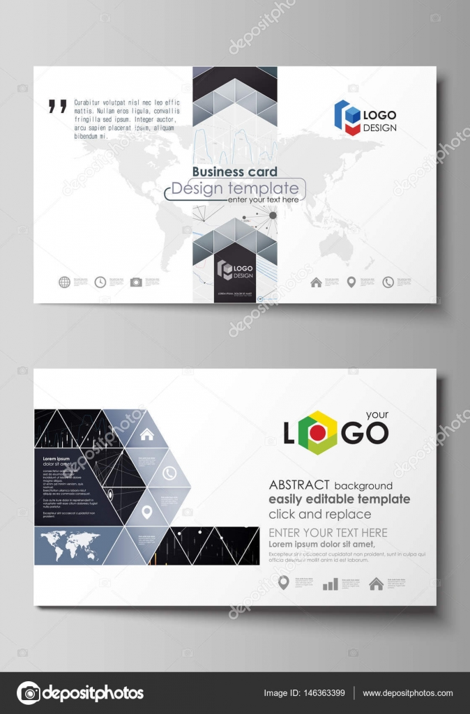 Business card templates easy editable vector layout abstract business card templates easy editable layout abstract vector design template abstract infographic background in minimalist style made from lines wajeb Gallery