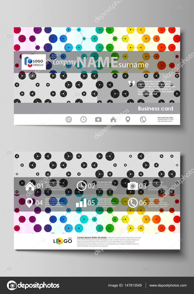 Plantillas de tarjeta de visita. Plantilla, diseño vectorial ...