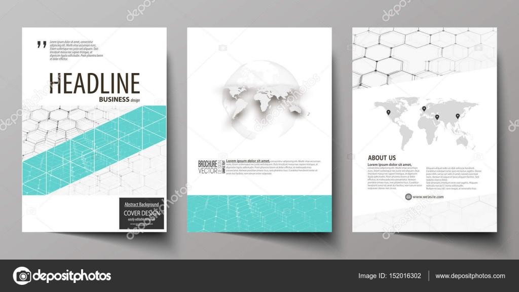 Plantillas de negocio para folleto, flyer, folleto, informe. Cubrir ...