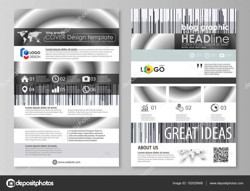 Blog Graphic Business Templates Page Website Design Template Easy