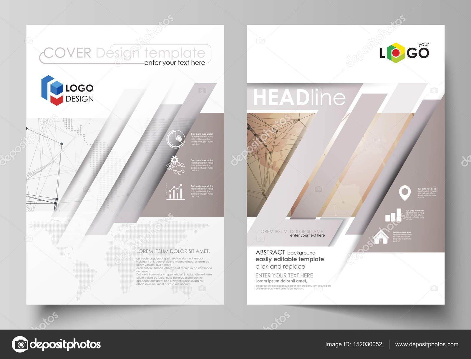 Die Vektor Illustration Des Editierbare Layouts Von Zwei Din A4