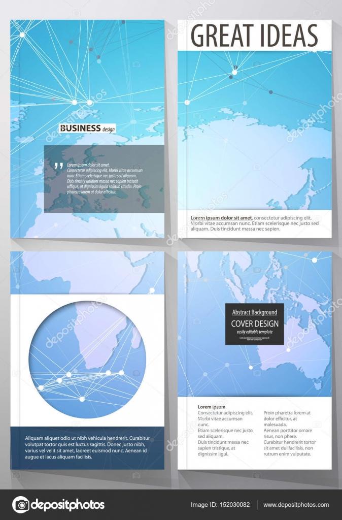 Die Vektorgrafik Editierbare Layouts Von Vier Din A4 Format Deckt