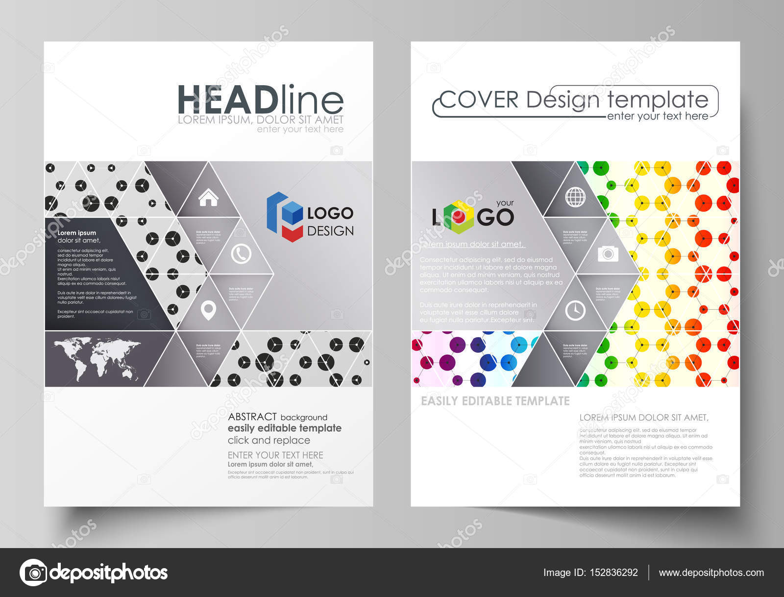 Business Templates For Brochure, Flyer, Annual Report. Cover Template,  Abstract Vector Layout  Annual Report Cover Template