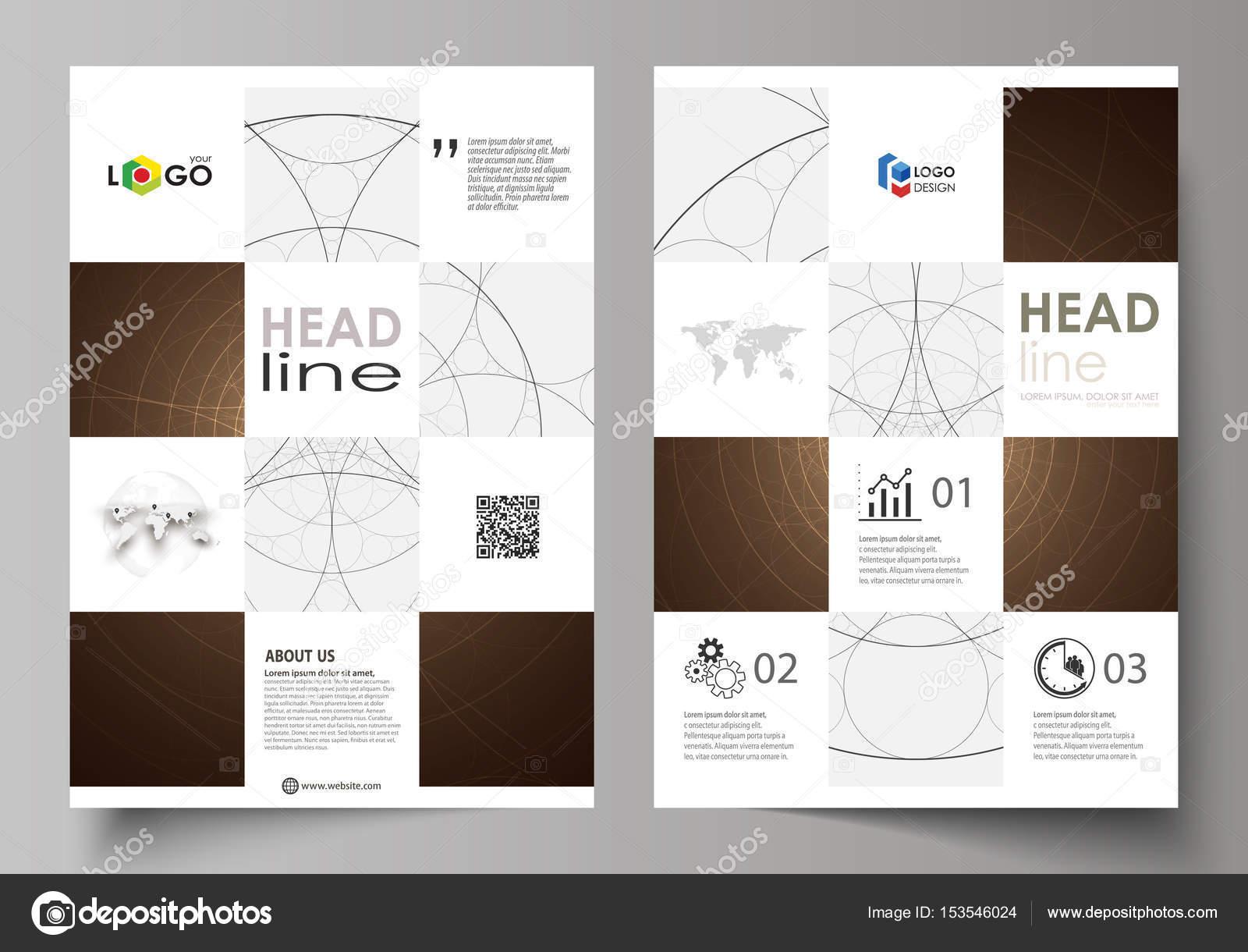 Plantillas de negocio para folleto, flyer, folleto. Cubrir la ...
