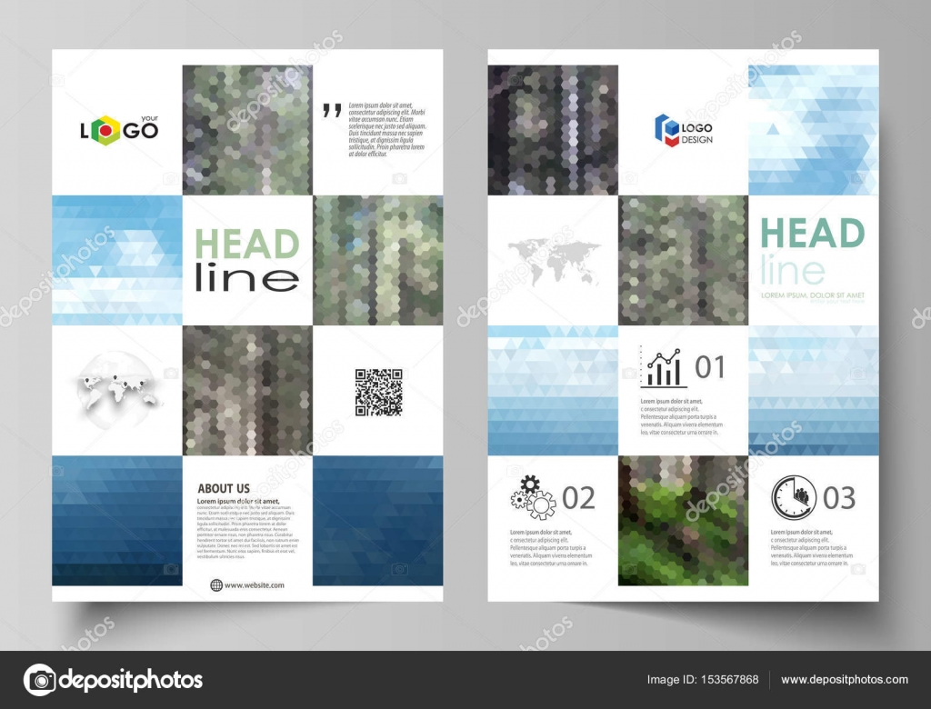 Templates For Brochure Magazine Flyer Booklet Or Annual Report
