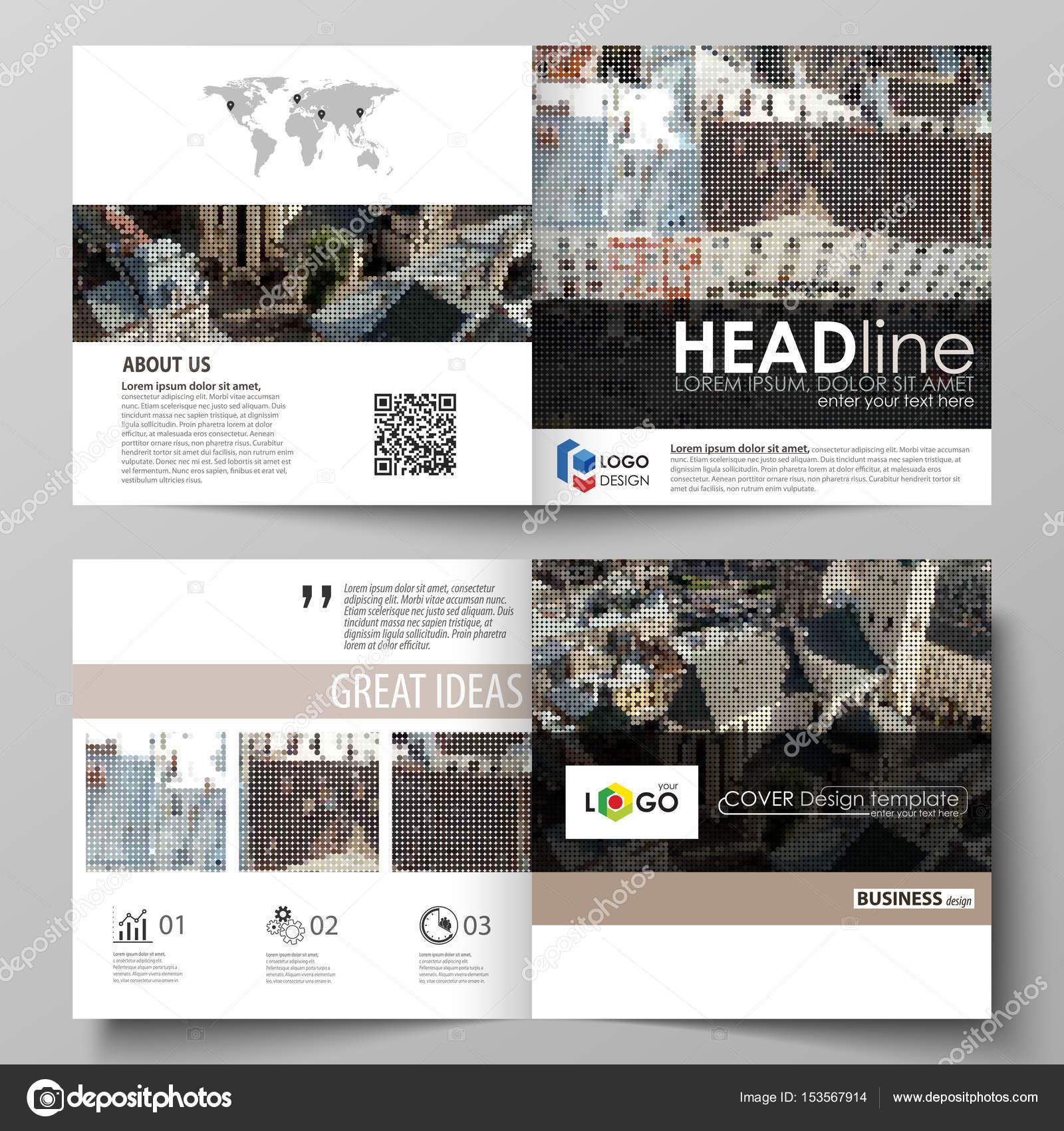 Plantillas de negocio para bi diseño cuadrado doblan folleto, flyer ...