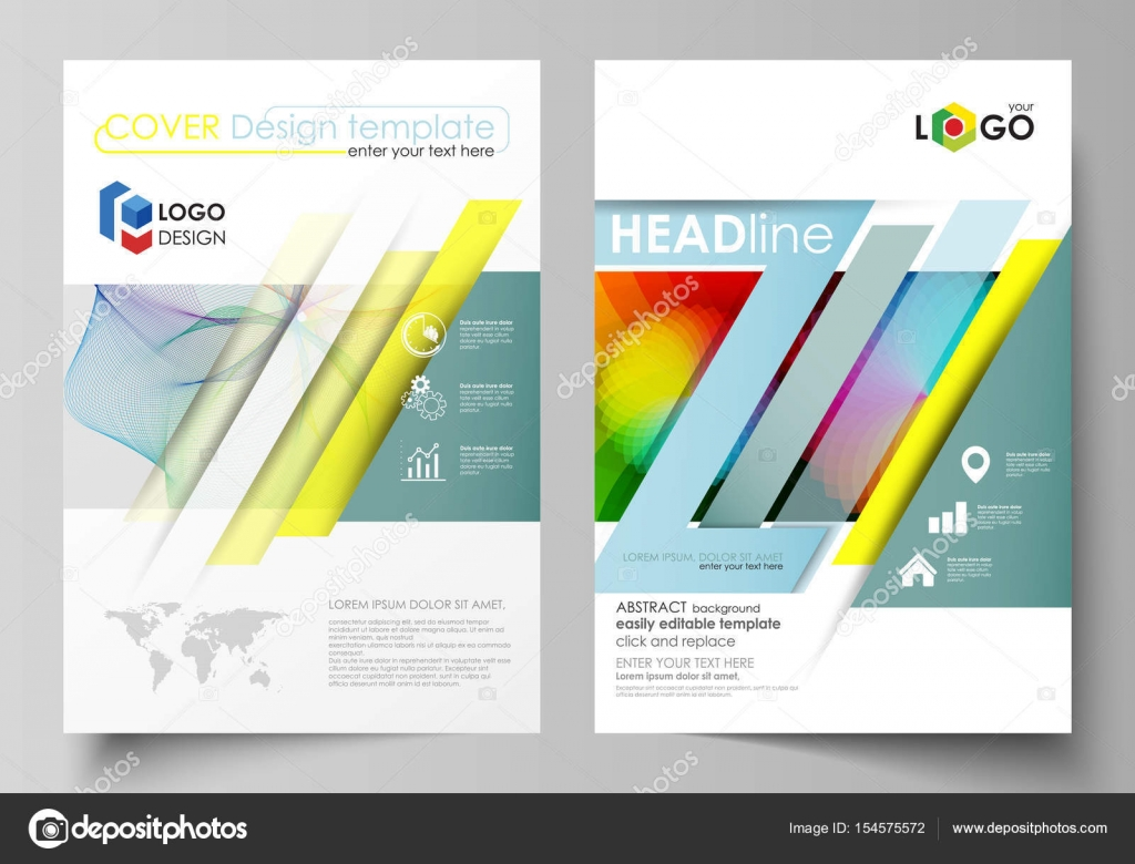 business templates for brochure flyer booklet report cover