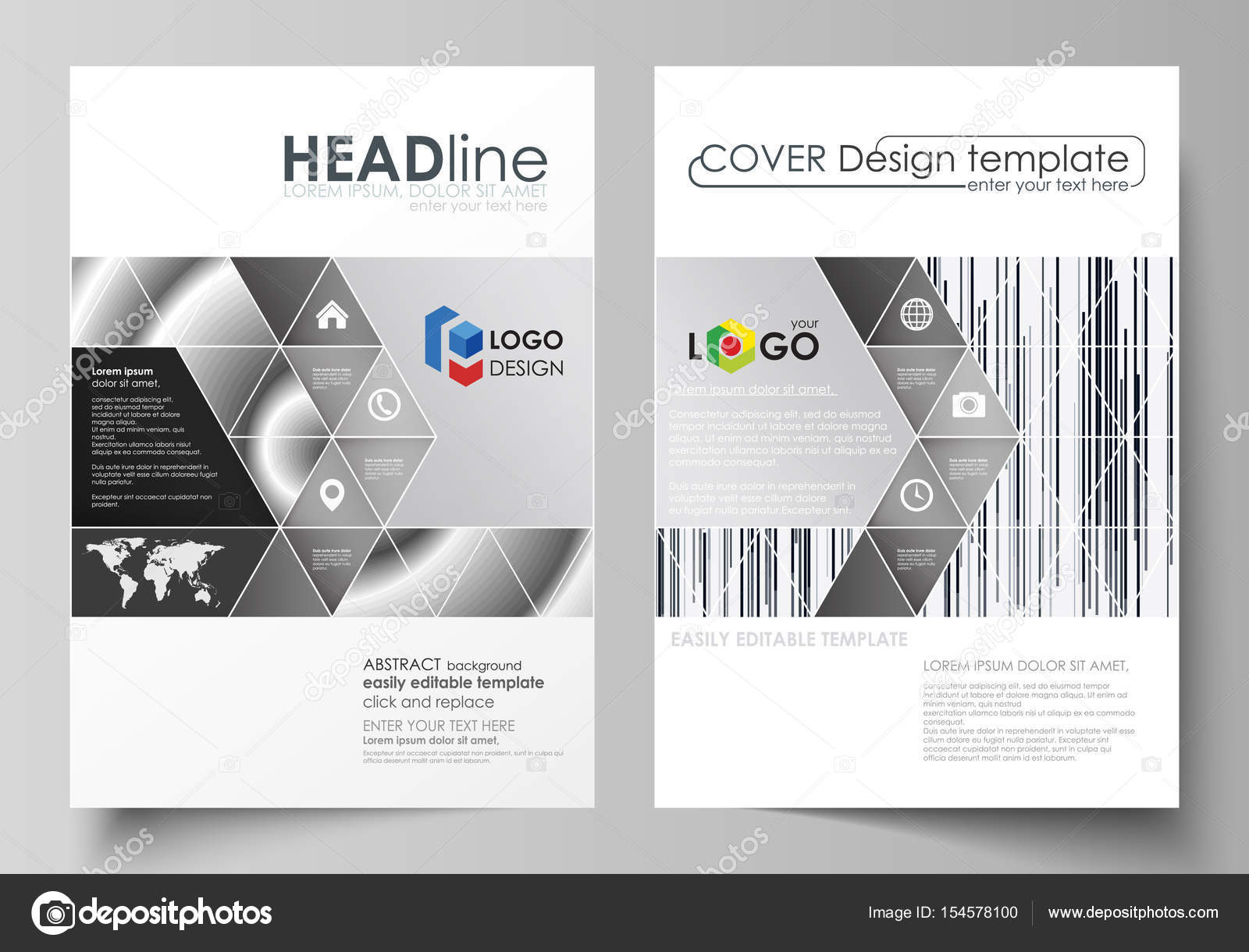Business templates for brochure, magazine, flyer, booklet. Cover ...