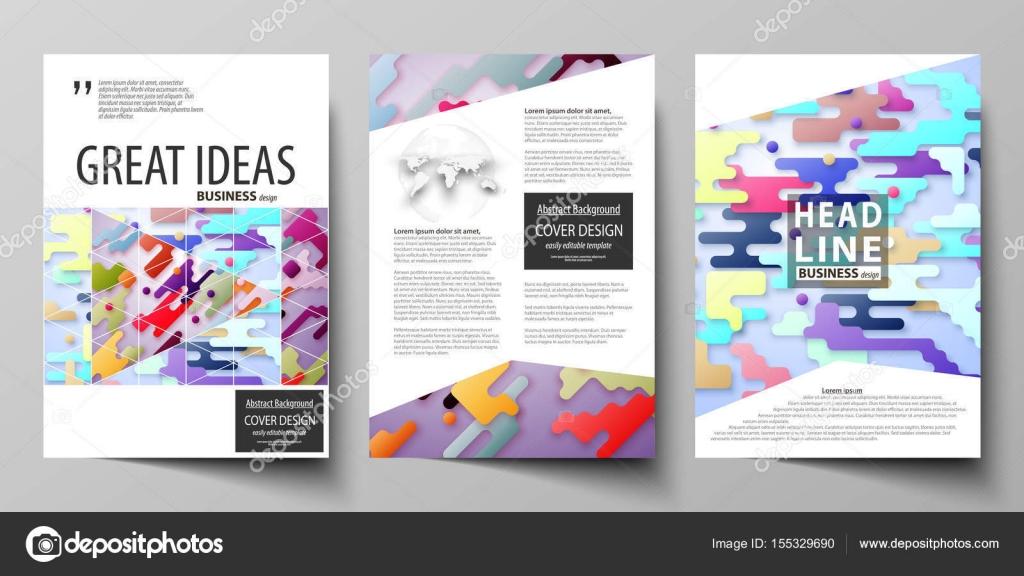Plantillas de negocio para el folleto, flyer, informe. Cubrir la ...