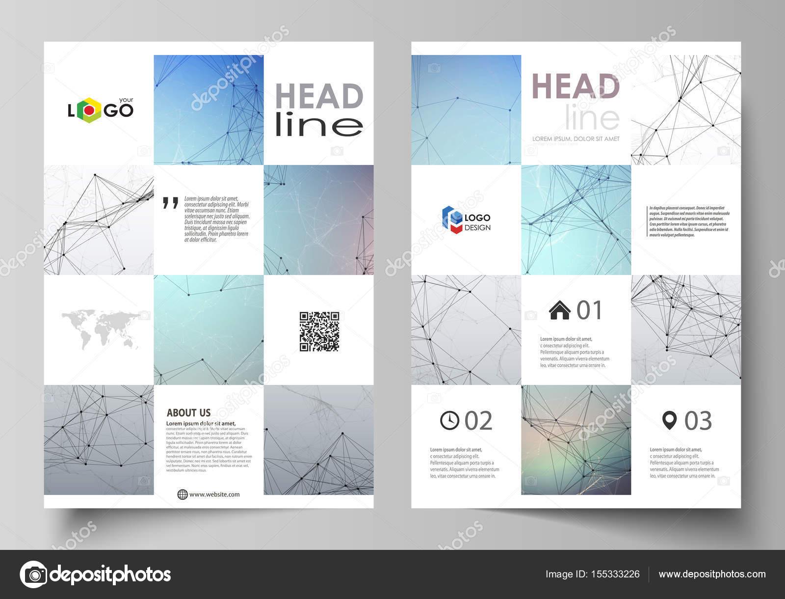 Business-Vorlagen für Broschüre, Magazin, Flyer. Design-Vorlage ...